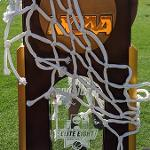 THE NCAA DIVISION II NATIONAL CHAMPIONSHIP TROPHY WAS ON DISPLAY.