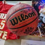 A SILENT AUCTION OFFERED UP SEVERAL KEEPSAKES FROM THE NATIONAL CHAMPIONSHIP SEASON.