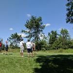 SCENES FROM THE MEN'S BASKETBALL GOLF OUTING