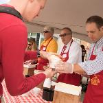 CELEBRITY SERVERS DISHED UP THE ICE CREAM TO STUDENTS AND MEMBERS OF THE FERRIS COMMUNITY.