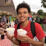 THE 11th ANNUAL ICE CREAM SOCIAL WAS A HIGHLIGHT OF FOUNDERS' DAY ON THE CAMPUS QUAD.