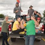 FOOTBALL FANS ENJOY TAILGATING PRIOR TO THE BULLDOGS' SEASON OPENER AT TOP TAGGART FIELD.