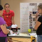 INFORMATION ABOUT INTRAMURAL AND CLUB SPORTS WAS AVAILABLE TO STUDENTS AT REC FEST.