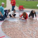 """""""COVER THE SEAL"""" WITH COINS WAS SPONSORED BY THE STUDENT ALUMNI GOLD CLUB."""