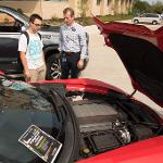 REPRESENTATIVES FROM GENERAL MOTORS VISITED CAMPUS FOR STUDENT OUTREACH AND JOB RECRUITMENT.