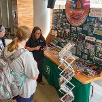 """INFORMATION ON AREA BUSINESSES AND STUDENT ORGANIZATIONS WAS AVAILABLE AT """"BULLDOG BONANZA."""""""