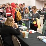 SCENES FROM THE ACADEMIC SUCCESS FAIR AT THE UNIVERSITY CENTER.