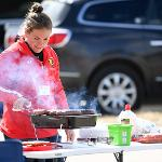 THE POPULAR HOMECOMING TAILGATE FILLED THE PARKING LOTS ADJACENT TO TOP TAGGART FIELD.