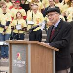 DACHO DACHOFF, EMERITUS DIRECTOR OF MUSIC ACTIVITIES, ASSISTED WITH THE FUNDRAISING AND OVERSAW THE OPERATIONS OF THE TOWER UNTIL HIS RETIREMENT IN 1983.