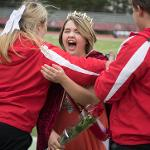 TAYA TREIBER, A THIRD-YEAR HOSPITALITY MANAGEMENT STUDENT FROM LUTHER, WAS CROWNED HOMECOMING ROYALTY.