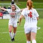 WOMEN'S SOCCER IS RANKED 12th IN THE COUNTRY WITH A RECORD OF 12-1-2.