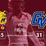 THE #2 RANKED BULLDOG FOOTBALL TEAM REMAINED UNDEFEATED WITH A MAGNIFICENT 35-31 WIN AT ARCH-RIVAL GRAND VALLEY.