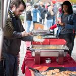 RESIDENCE HALL STUDENTS WERE TREATED TO A TACO TAILGATE PICNIC AT THE BULLDOG FOOTBALL GAME.