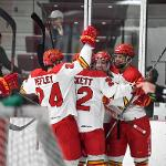 FERRIS CURRENTLY SITS IN FIRST PLACE IN THE WCHA STANDINGS.