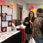 REPRESENTATIVES FROM THE VARIOUS FERRIS COLLEGES WERE AVAILABLE FOR EXIT COUNSELING.
