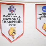 MEN'S BASKETBALL UNVEILED ITS 2018 NCAA II NATIONAL CHAMPIONSHIP BANNER AT WINK ARENA.
