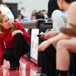 FOURTH-YEAR HEAD COACH KENDRA FAUSTIN IS BUILDING A WINNING PROGRAM AT FERRIS.
