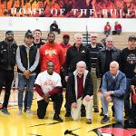 BULLDOG BASKETBALL ALUMNI WERE WELCOMED BACK TO CAMPUS FOR THE SAGINAW VALLEY GAME.