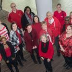"""FERRIS PARTICIPATED IN """"NATIONAL WEAR RED DAY"""" TO HELP RAISE AWARENESS ABOUT HEART DISEASE."""