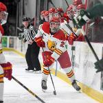 BULLDOG HOCKEY BATTLED BEMIDJI STATE TO A TIE AND LOSS IN WCHA ACTION.
