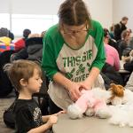 STUDENTS AND LOCAL CHILDREN WERE INVITED TO CREATE THEIR OWN CUSTOMIZED TOY ANIMALS.