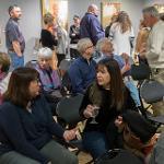 "A RECEPTION WAS HELD FOR THE EXHIBIT ""AN ARMY OF WOMEN"" AT THE FSU FINE ART GALLERY."