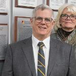 PAUL BOES, PICTURED WITH HIS WIFE MARGARET, HAS TAUGHT WELDING PROCESSES IN MICHIGAN FOR OVER 45 YEARS.