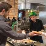 STUDENTS ENJOYED A ST. PATRICK'S DAY HOLIDAY FEAST AT THE QUAD CAFE.