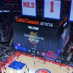 """THE ALUMNI ASSOCIATION RECENTLY HOSTED """"FERRIS STATE DAY WITH THE DETROIT PISTONS."""""""
