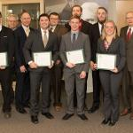TOP COLLEGE OF ENGINEERING TECHNOLOGY STUDENTS WERE INDUCTED INTO THE TAU ALPHA PI NATIONAL HONOR SOCIETY.