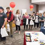 THE GRAD FAIR GIVES STUDENTS THE CHANCE TO TAKE CARE OF A VARIETY OF COMMENCEMENT TASKS IN ONE AREA.
