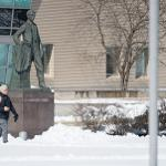 AN APRIL BLIZZARD DUMPED NEARLY A FOOT OF SNOW ACROSS THE AREA.