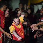 FSU MEN'S AND WOMEN'S BASKETBALL PLAYERS TEAMED UP WITH SPECIAL OLYMPICS AREA 5 ATHLETES FOR THE FUNDRAISER.