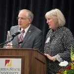 """CARLA MILLER, EXECUTIVE DIRECTOR OF THE FERRIS FOUNDATION, WAS THE RECIPIENT OF THE """"PASS THE TORCH"""" AWARD."""
