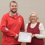 CODY STILWELL OF THE TRACK AND FIELD TEAM WAS RECOGNIZED FOR WINNING THE GLIAC COMMISSIONER'S AWARD FOR ACADEMIC AND ATHLETIC EXCELLENCE.