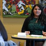 KAYLEE MORENO, EXECUTIVE DIRECTOR OF THE CENTER FOR LATIN@ STUDIES, LEADS THE PROMESA SCHOLARS PROGRAM.