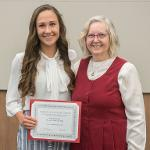 KATIE ETELMAKI OF THE TRACK AND FIELD TEAM WAS RECOGNIZED FOR WINNING THE GLIAC COMMISSIONER'S AWARD FOR ACADEMIC AND ATHLETIC EXCELLENCE.