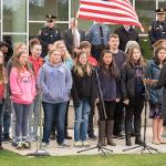 THE BIG RAPIDS MIDDLE SCHOOL CHOIR SANG THE IRISH BLESSING.