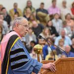 PRESIDENT EISLER PRESIDED OVER FIVE CEREMONIES IN TWO DAYS ON THE MAIN CAMPUS.