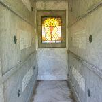 A BEAUTIFUL MARBLE INTERIOR SERVES AS THE FINAL RESTING PLACE OF OUR FOUNDERS. . .