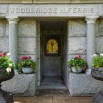 THE FERRIS HISTORY TASK FORCE AND PHYSICAL PLANT GROUNDS STAFF OPENED THE FERRIS MAUSOLEUM . . .