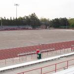 TOP TAGGART FIELD IS BEING PREPARED FOR NEW ARTIFICIAL TURF.