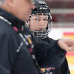 CAMPERS RECEIVED ONE-ON-ONE COACHING AT THE FSU HOCKEY SKILLS CAMP.
