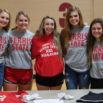 CLUB SPORTS TEAMS WERE ON HAND TO PROVIDE INFORMATION TO INTERESTED STUDENTS.
