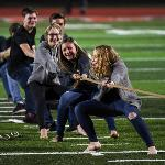 """STUDENTS ENJOYED SOME SPIRITED COMPETITION AT THE HOMECOMING WEEK """"FIELD DAY"""" EVENT."""