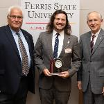 "PHARMACY STUDENT GRANT KLAIRTER WAS SELECTED FOR THE ""ABOVE AND BEYOND"" AWARD BY THE ALUMNI ASSOCIATION."