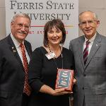 KATHY PAWLICKI ('85) WAS RECOGNIZED WITH THE DISTINGUISHED ALUMNI AWARD AT FALL REUNION.