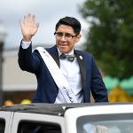 DANIEL RIVERA, A SENIOR FROM GRAND RAPIDS, WAS VOTED 2019 HOMECOMING AMBASSADOR.