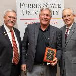 RANDY PHELPS ('81 and '83) WAS HONORED WITH THE DISTINGUISHED ALUMNI AWARD AT FALL REUNION.