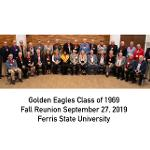 THE GOLDEN EAGLES CLASS OF 1969 WAS HONORED AT THE ANNUAL FALL REUNION DINNER.